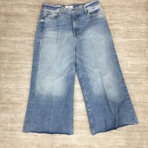 Frame Denim Le Palazzo Pant Raw Edge Crop Size 32